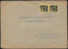 1945 (5. díjszabás) Távolsági levél 2x Kisegítő 60P/18f bérmentesítéssel