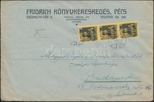 1946 (5. díjszabás) Távolsági levél 250g-ig 3x Kisegítő 60P/18f bérmentesítéssel
