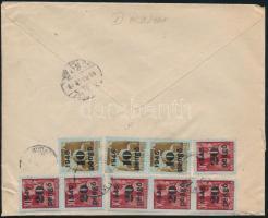 1945 (5. díjszabás) Helyi céges levél 500g-ig Kisegítő összesen 150P (túl-)bérmentesítve