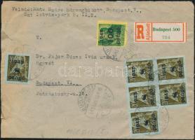 1945 (4. díjszabás) Ajánlott helyi levél Kisegítő 100P/12f + 6x 8P/20f + 20x 60f/8f bérmentesítéssel