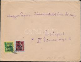 1945 (5. díjszabás) Helyi levél 500g-ig Kisegítő 100P/12f + 20P/30f bérmentesítéssel