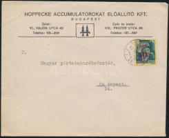 1945 (1. díjszabás) Helyi levél Kisegítő 50f/50f bérmentesítéssel