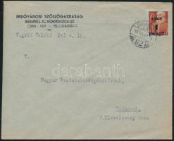 1945 (1. díjszabás) Helyi levél 250g-ig Kisegítő 1P/70f bérmentesítéssel