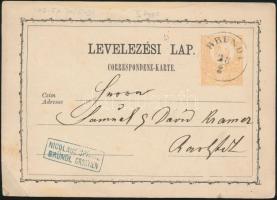 1871 2kr díjjegyes levelezőlap BRÜNDL