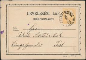 1873 2kr díjjegyes levelezőlap / PS-card FELSŐ-BÁNYA/SZATM. M. - PEST