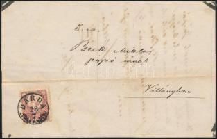 1873 Réznyomat 5kr / Mi 10 DÁRDA - Villány