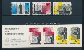 1987 Ipari és technikai területek sor Mi 1315A-1317A + bélyegfüzet MH 36