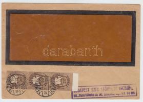 1946 (12. díjszabás) Nyomtatvány Lovasfutár 3 x 20eP túlbérmentesítéssel