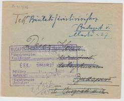 1946 (12. díjszabás) Nyomtatvány Lovasfutár 50eP bérmentesítéssel