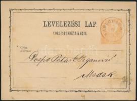 1871 2kr díjjegyes levelezőlap / PS-card KARLOBAGO - Modor