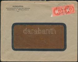 1946 (8. díjszabás) Helyi levél 500g-ig Lovasfutár 2x 10eP bérmentesítéssel