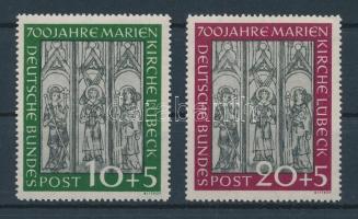 1951 700 éves a Lübecki Mária Templom sor Mi 139-140