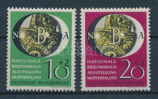 1951 Nemzetközi bélyegkiállítás sor Mi 141-142