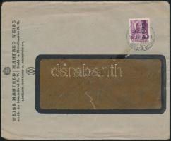 1946 (8. díjszabás) Helyi levél Betűs II Cs.5-2./24f bérmentesítéssel