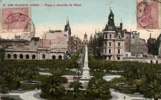 Buenos Aires May square and avenue, Buenos Aires Május tér és utca