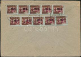 1946 (8. díjszabás) Távolsági levél 250g-ig 10x Betűs II Tl.2./10f bérmentesítéssel