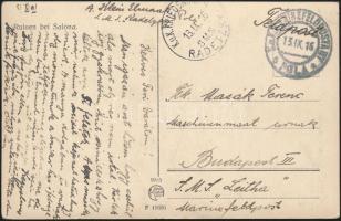 1916 Képeslap SMS RADETZKY + MFP POLA