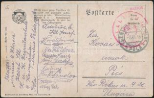 1916 Képeslap K.U.K Matrosenkorps Rekrutenschule + MFP POLA - Pécs