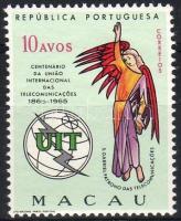 1965. 100 éves a Nemzetközi Távközlési Unió Mi 430