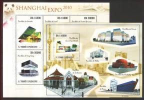 2010 Shanghai EXPO kiállítási pavilonok kisív Mi 4522-4527 + blokk Mi 777