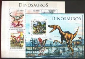 2010 Dinoszauruszok kisív Mi 4543-4548 + blokk Mi 780