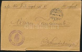 1915 Tábori levél HADTÁP POSTAHIVATAL 170