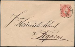 1867 5kr díjjegyes boríték PORUMBACH (Gudlin 600 pont ) - FOGARAS