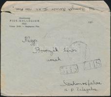 1945 (3. díjszabás) Távolsági levél 10P készpénz bérmentesítéssel