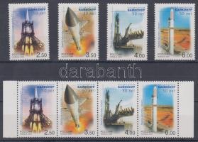 2004 50 éves a Baikonur űrközpont sor + négyescsík Mi 1220-1223