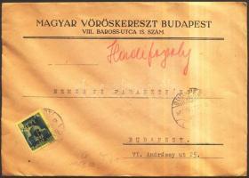 1945 (3. díjszabás) Helyi levél Kisegítő 6P/50f bérmentesítéssel