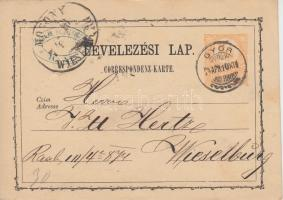 """2kr PS-card """"GYŐR"""" - Wieselburg, 2kr díjjegyes levelezőlap """"GYŐR"""" - Wieselburg"""