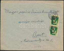 1945 (2. díjszabás) Helyi levél 2x Kisegítő (I.) 1P/1P bérmentesítéssel
