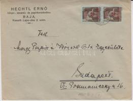 1945 (2. díjszabás) Távolsági levél 250g-ig 2x Kisegítő (I.) 2P/2P bérmentesítéssel
