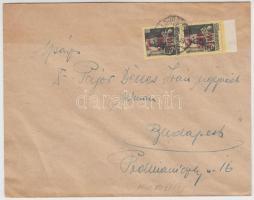 1945 (2. díjszabás) Nyomtatvány 2x Kisegítő (I.) 20f/18f bérmentesítéssel