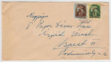 1945 (2. díjszabás) Távolsági levél Kisegítő (I.) 1P/1P + 2P/2P bérmentesítéssel