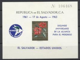 1963 Szövetség a haladásért vágott blokk Mi 17