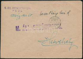 1946 (10. díjszabás) Távolsági levél 60eP készpénz bérmentesítéssel