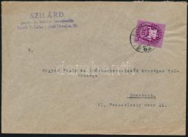 1946 (10. díjszabás) Helyi levél Lovasfutár 30eP bérmentesítéssel
