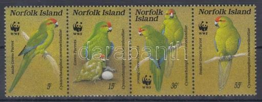 1987 WWF Papagáj négyescsík Mi 421-424