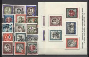 1957 Cserkész Mi 1126-1140 + blokk 43-44