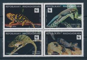 1999 WWF Hüllők négyestömb Mi 2313-2316