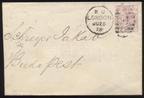 1878 Mi 47 Pl 11 levélen Budapestre
