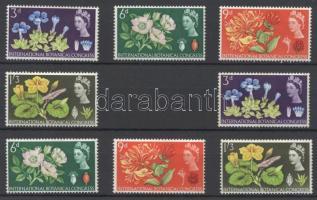 1964 Nemzetközi botanikus konferencia Mi 378-381 normál + foszforos sor
