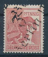1948 Körzetszám felülnyomás Mi 179I 3Berlin112 felülnyomással Certificate: Böheim