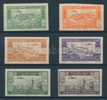 1943 Légiposta Mi 271-276 vágott sor / imperforate set Signed: Sanabria
