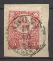 1871 Réznyomat 5kr ADONY / FEHÉR M.