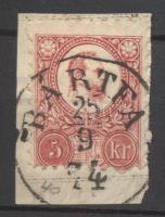 1871 Réznyomat 5kr BÁRTFA