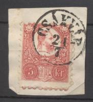 1871 Réznyomat 5kr CSÁKVÁR