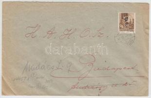1946 (7. díjszabás) Távolsági levél tévesen a 6. díjszabás szerint Betűs I. Tl.I. bérmentesítéssel