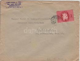 1946 (7. díjszabás) Távolsági levél Köztársaság 3eP bérmentesítéssel